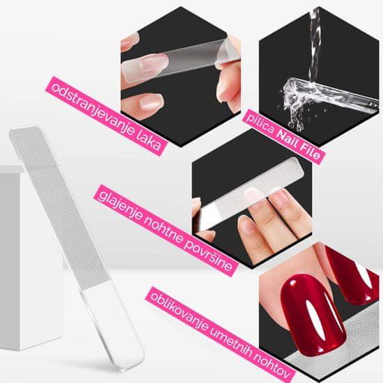 VivoVita Nano File Trio – Set 3 steklenih pilic za nohte z nano površino