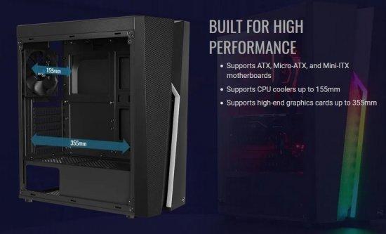Aerocool PC skříň Bolt