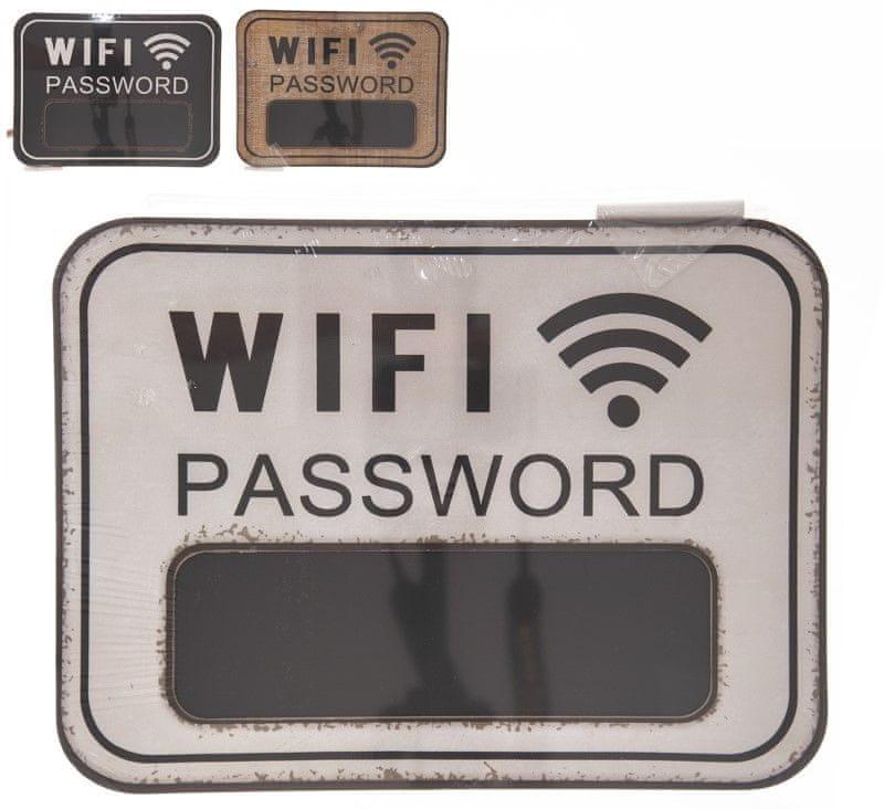 Indecor Tabule křídová, heslo k wifi, plech, 39 × 29 cm