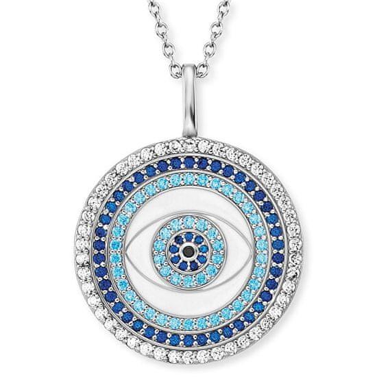 Engelsrufer Stříbrný náhrdelník Oko štěstí se zirkony ERN-EYE-ZIM stříbro 925/1000