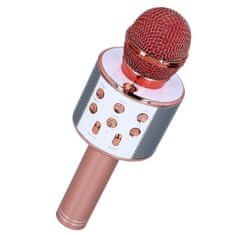 MG Bluetooth Karaoke mikrofon s reproduktorem, růžovozlatých