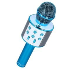 MG Bluetooth Karaoke mikrofon s reproduktorem, modrý