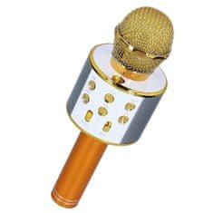 MG Bluetooth Karaoke mikrofón s reproduktorom, zlatý