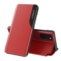 MG Eco Leather View knjižni ovitek za Samsung Galaxy A72, rdeča