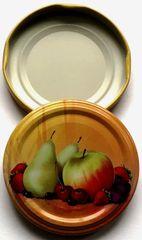 Marex Trade Twist pokrovi, 66 mm, hruške/jabolka za kozarce 0,37 l, 10 kosov