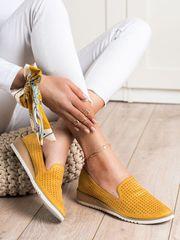 Női balerina cipő 70091, sárga és arany árnyalat, 36