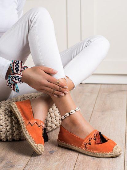 BEST SHOES Nőitornacipő 70096 + Nőin zokni Gatta Calzino Strech, narancssárga árnyalat, 41
