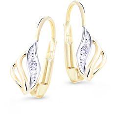 Cutie Jewellery Luxusné zlaté náušnice s trblietavými zirkónmi Z8024-50-10-X-1