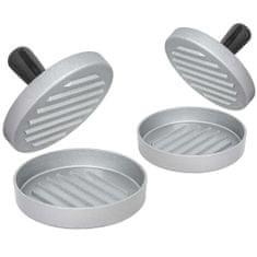 tectake 2 Tvořítka na hamburgery jednoduchá - černá/stříbrná