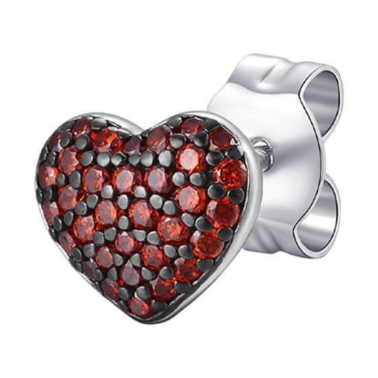Rosato Srebrni enojni uhani Srce s cirkoni Storie RZO048