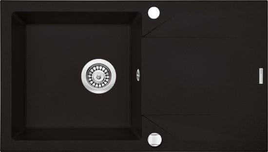 Deante ZQJY N113 set, korito + armatura, črna