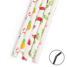 Family Papirnata slamica - poletni vzorec - 250 x 6 mm - 150 kosov / paket