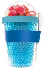 Asobu multifunkční chladící svačinový kelímek CY2GO modrý 386ml