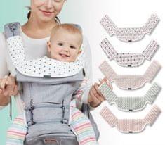 Sinbii Kousací Podložka kompatibilní s ERGOBABY a BABYBJÖRN Baby Carrier, ´Motová kvítky