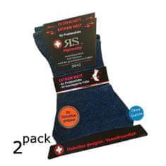 RS pánské bavlněné extra volné a široké diabetické ponožky RS 31127 2-pack, 43-46