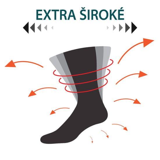 RS pánské bavlněné extra volné a široké diabetické ponožky RS 31127 2-pack