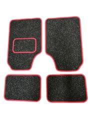 AGBA Koberce textilní univerzální sada 4ks - červený okraj