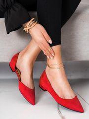 Női balerina cipő 70110, piros árnyalat, 36