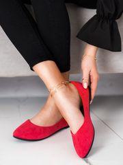 Vinceza Női balerina cipő 70126 + Nőin zokni Gatta Calzino Strech, piros árnyalat, 36