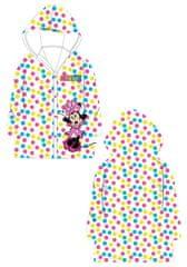 """Eplusm Dievčenský pršiplašť """"Minnie Mouse"""" - biela - 122–128 / 7–8 rokov"""