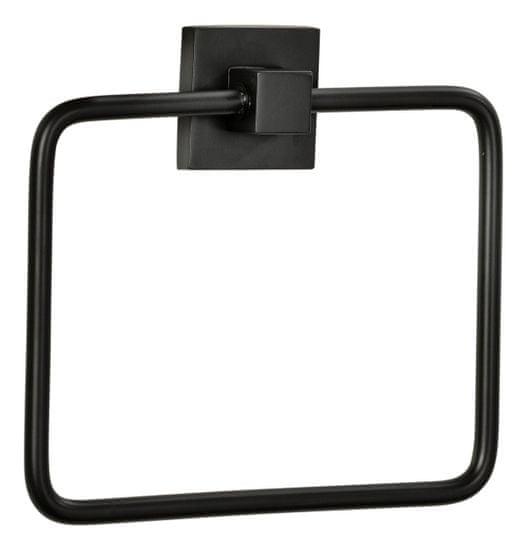 Fackelmann New York kvadratno stojalo za brisače, 19x17x3,5 cm, mat črno
