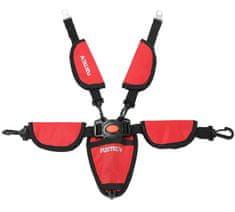 Fuxtec 5 bodový bezpečnostní pás pro vozíky CT-850 červený