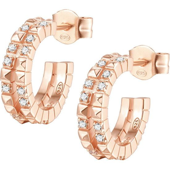 Rosato Divatos karika fülbevaló cirkónium kövekkel Cubica RZO043