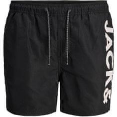 Jack&Jones Moške plavalne kratke hlače JJIBALI 12183806 Black (Velikost S)