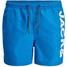 Jack&Jones Moške plavalne kratke hlače JJIBALI 12183806 French Blue (Velikost M)