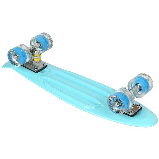 Enero Pennyboard deska 56 cm z LED kolesi, BLUE KING S-123