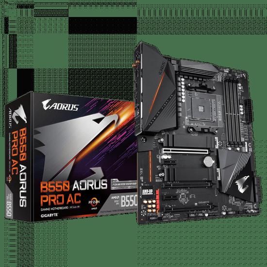 Gigabyte B550 Aorus Pro AC matična ploča, AM4, DDR4, Wi-Fi, USB-C, ATX