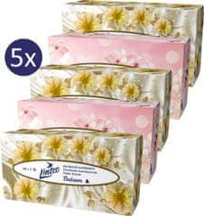 LINTEO Papierové vreckovky s balzamom box, 3-vrstvové, 90 ks