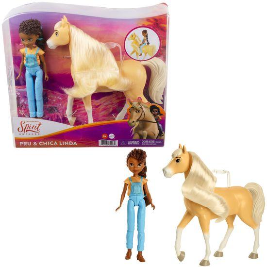 Mattel Spirit bábika a kôň Pru a Chica Linda
