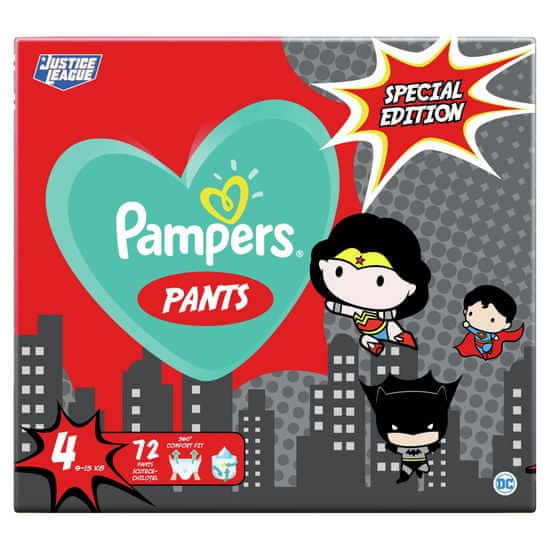 Pampers Plenkové Kalhotky Pants Velikost 4, 72 ks, 9-15 kg