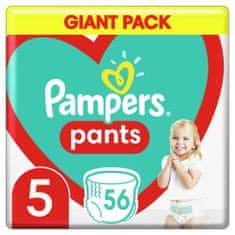 Pampers Plienkové Nohavičky Pants Veľkosť 5, 56 ks, 12-17 kg