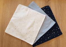 KidPro Mušelínové bavlnené plienky modrý mix 60x60 cm, 3 ks