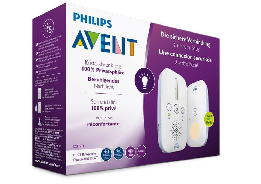 Philips Avent SCD503/26 elektronická chůvička s technologií DECT