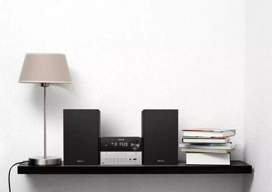 Philips TAM3205 glasbeni stolp, črno-srebrn