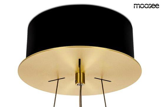 shumee MOOSEE viseča svetilka SATURNUS 47 DUO zlato - LED, kristal, brušeno jeklo