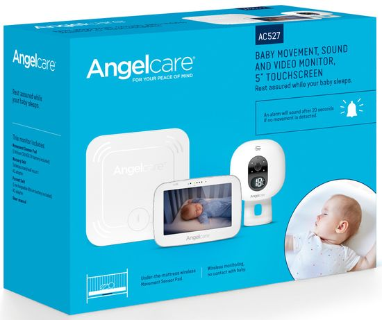Angelcare monitor ruchu oddechu AC527 i niania elektroniczna wideo