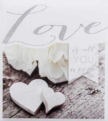 WALTHER Fotoalbum na fotorožky 25,5x29,5 50 strán svadobné Love is all you need