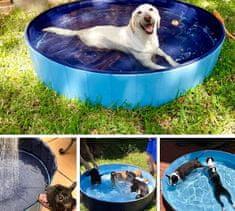 Pawly Zložljiv pasji bazen odporen na ostre kremplje, s podlago, ki ne drsi PawlyPool