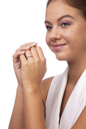 Brilio Zaročni prstan iz belega zlata s cirkonom 226 001 00992 07 Belo zlato 585/1000