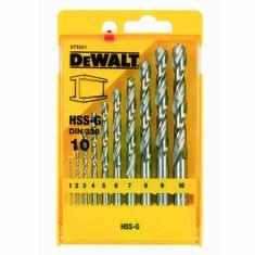 DeWalt Sada vrtáků do kovu HSS-G DIN 338 DeWALT DT5921, 10 dílná