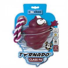 EBI COOCKOO TORNADO F4 kötéllel, játék kutyáknak +27kg, piros, 130x105x105mm/80% gumi