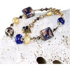 Lampglas Wspaniałybransoletka Egipska bogini z 24-karatowym złotem w perłach Lampglas