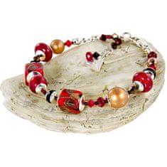Lampglas Nie można tego przeoczyćbransoletka Bloody Mary z 24-karatowym złotem w perłach Lampglas