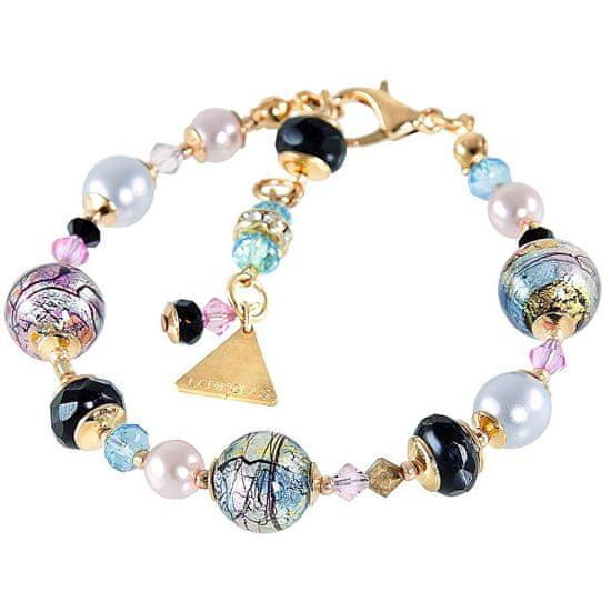 Lampglas Mysteriózny náramok Gold Fantasy s 24 karátovým zlatom a rýdzim striebrom v perle Lampglas BP38
