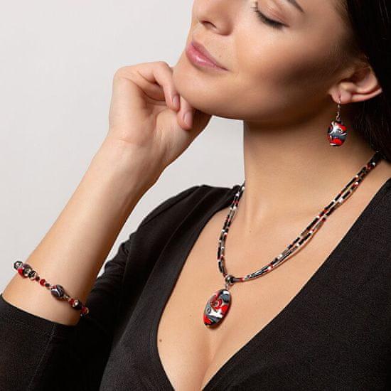 Lampglas Magický náhrdelník Mayan Love s perlou Lampglas NP37