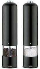 Cilio Elektrický mlynček na korenie a soľ BERGAMO čierna